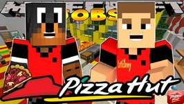 Minecraft Jobs - Little Donny Adventures - PIZZA HUT JOB w/ DONUT THE DOG