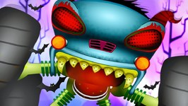 Haunted House Monster Truck Videos - Destroyer of Worlds - Car Cartoons For Babies kids videos