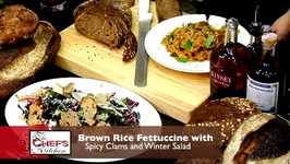 Jon Nodler - Brown Rice Fettuccine With Spicy Clams And Winter Salad