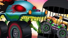 Good Vs Evil - Vehicle Battles - Haunted House Monster Trucks Cartoons