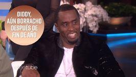 Diddy admite estar borracho en el programa de Ellen