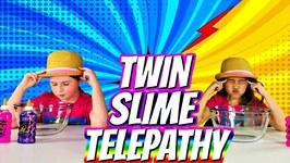 TWIN TELEPATHY SLIME CHALLENGE!!
