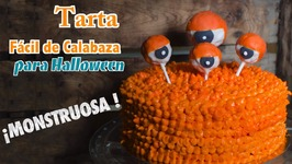 Tarta de Calabaza Fácil para Halloween - Pasteles de Halloween - Tortas de Halloween en 4K