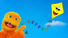 Fuzzy Flies a Kite! Snowflake Learns to be Brave - Educational Comedy Show for Kids - Kite for Kids
