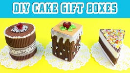 DIY Chocolate Cake Gift Boxes - Easy Paper Crafts