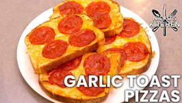 Garlic Toast Pizzas -  Amazing Snack Recipe