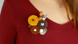 DIY Felt Brooch