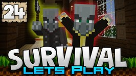 TERROR MANSION- WILL I SURVIVE?-? - Survival Let's Play Ep. 24 - Minecraft 1.2 -PE W10 XB1