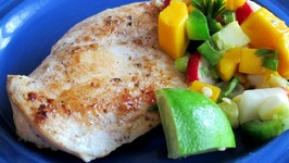 Caribbean Chicken With Mango Salsa -Quick Meal Idea