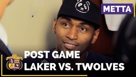 Metta World Peace On Final Possession In Lakers Buzzer-Beater Over Timberwolves