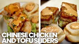 Chinese Chicken and Tofu Sliders