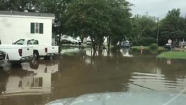 Pelham Streets Under Water Amid Flood Warnings Across Several Alabama Counties