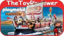Playmobil Roman Warriors' Ship Lego Build Bricks Boat History Unboxing Toy Review