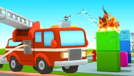 Car School 4 Fire Truck Cartoon. Car Cartoons with Fire Trucks for Kids- Cartoons for Toddlers