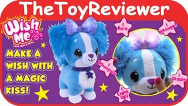 Wish Me Pets Blue Puppy Magical Kiss Dog Plush Glow Light-Up Unboxing Toy Review