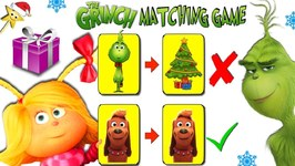 THE GRINCH vs CINDY LOU WHO Matching Game for Surprise Toys!