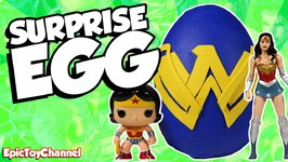 Giant Wonder Woman Surprise Egg Play Doh - Justice League Toys And Teen Titans  Beast Boy Toysreview