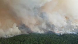 British Columbia Firefighters Battle Extreme Wildfire Behavior
