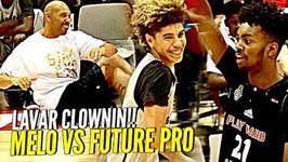 Lamelo Ball Triple Double Vs Future Nba Pro Lavar Doing Sit Ups During Game