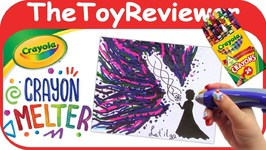 Crayola Crayon Melter DIY Craft Melting Art Drawing Glue Gun Unboxing Toy Review by TheToyReviewer
