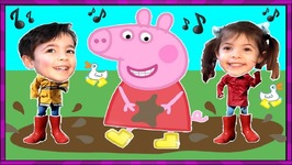 Peppa Pig Muddy Puddles Kids Songs In Real Life Peppa Toys Childrens English Video