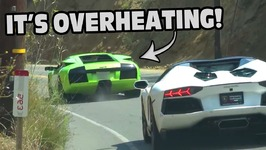 Lamborghini Overheats - Driver Doesn't Notice