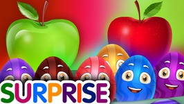 Surprise Eggs Nursery Rhymes Toys - Learn Fruits for Kids - Apple - ChuChu TV Egg Surprise