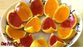 Orange Wedge Jello Shots