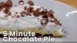 5 Minute Chocolate Pie