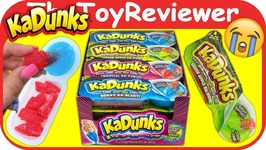 NEW KaDunks Sour Candy Gummy Dippers Commercial Challenge Unboxing Toy Review