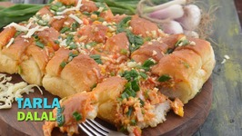 Stuffed Cheesy Schezuan Pav - Hindi
