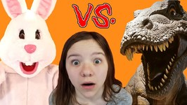 EASTER BUNNY vs T-REX! Who Wins?