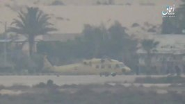 Video Said to Show Islamic State Helicopter Strike In Arish, Egypt