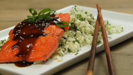 Teriyaki-Glazed Salmon with Cauliflower Rice