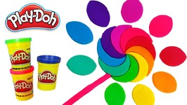 Play Doh Making Colorful Rainbow Popsicle Disney Princess Sparkle Dress Learn Colors Modelling Clay