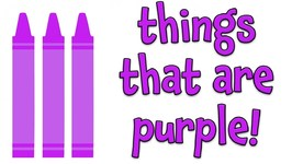 Things That Are Purple - Learning Colors For Kids
