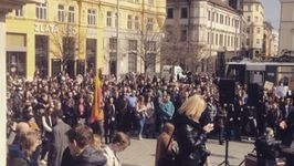 Students Rally in Brno to Protest for Democracy