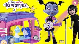 Disney Junior VAMPIRINA CONCERT Rock N Jam Touring Van NEW TOY and HT3 Mavis and Surprises