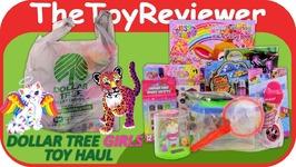 May 2017 Girls Dollar Tree Haul - 1 Toys Lisa Frank Trolls Unboxing