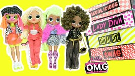 LOL Surprise OMG Fashion Dolls COMPLETE SET Opening! Royal Bee, Neonlicious, Lady Diva, Swag Toys