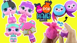 Pop Pop Hair Surprise Toy Unboxing! SPRAY with Water for a POP Surprise  Pet Hair Accessories