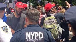 Police Escort Trump Supporters From NYC Impeachment March