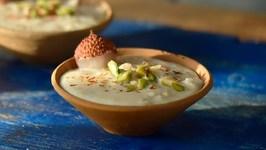 Lychee Firni - How To Make Lychee Phirni - Indian Dessert - Sweet Dish