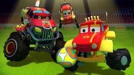 Monster Truck Dan in Goal - Car Cartoon Videos For Children by Kids Channel