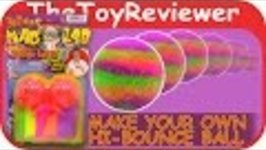 Dr. Wacko's Ball Lab Make Your Own Hi-Bounce Ball Unboxing Tutorial by TheToyReviewer