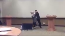 Video Emerges of Clinton Practicing Dodging Trump's Hugs