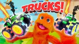 Truck Toys For Kids - Excavator Dump Truck Cement Mixer Garbage Truck School Bus And Firetrucks
