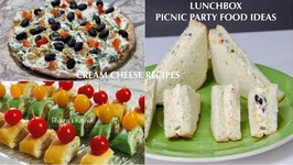 Lunchbox Picnic Party Food Ideas Cream Cheese Sandwich Pizza And Rollups