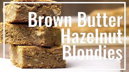 Hazelnut Brown Butter Blondies
