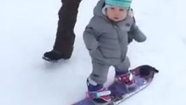 One-Year-Old Snowboarder Shreds the Slopes of Park City, Utah